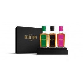 Whisky France Bellevoye Coffret Prestige Prune, Noir et Verte 3x20cl
