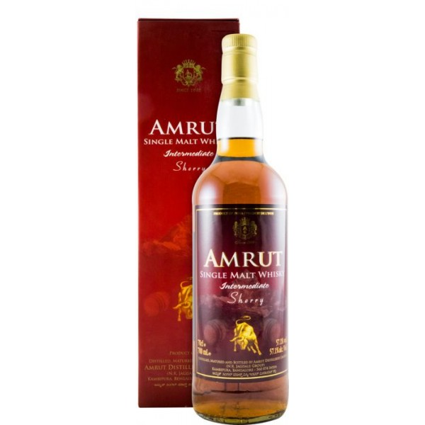 Whisky Inde Amrut Intermediate Sherry 57,1° 70 cl
